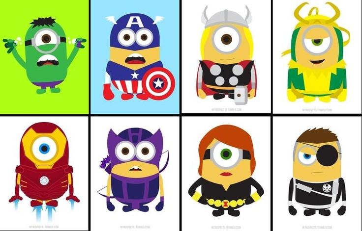 Avengers & Loki, in Minion form :D | comics/anime ...