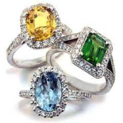 23 best semi precious stones images on pinterest gems for Precious stone wedding rings