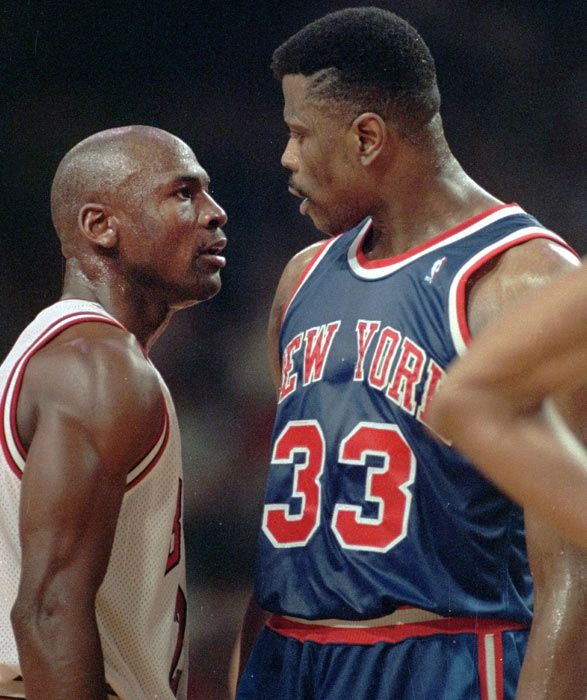 #MichaelJordan and PatrickEwing baloncesto basketball usa