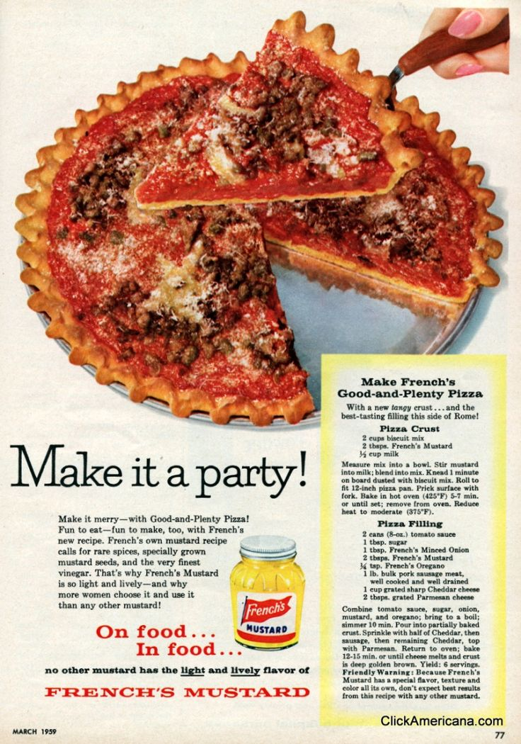 Make French's Good and Plenty Pizza (1958)
