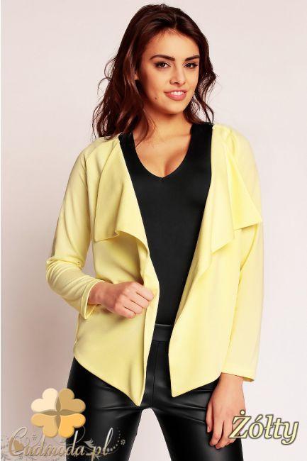 Asymetryczna, niezapinana narzutka damska marki Nommo.  #cudmoda #moda #ubrania #odzież #AnitaSikorska #clothes #styl
