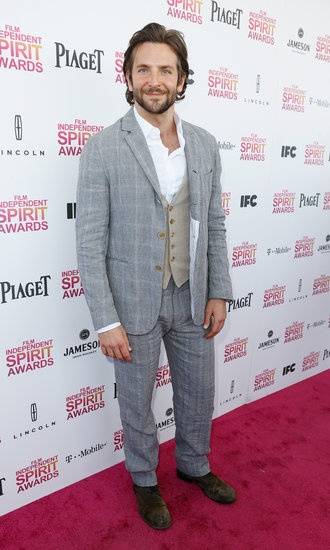 All the Stars Arriving at the Spirit Awards: Bradley Cooper on the red carpet at the Spirit Award 2013.