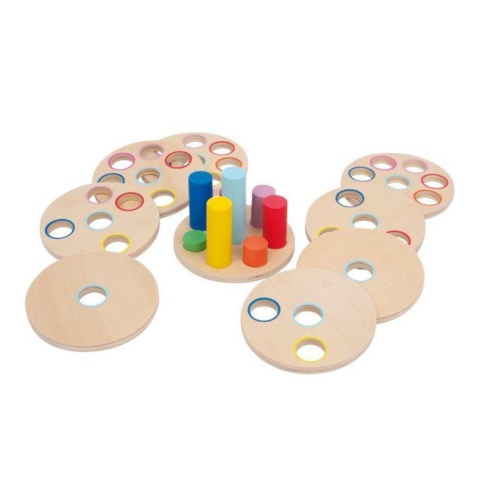 Juguete de #motricidad de #madera educativo para entrenar la lógica #niños