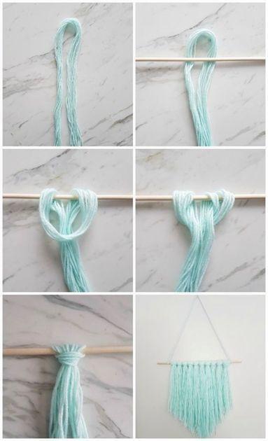 How one can Make an Straightforward DIY Wall Hanging with Yarn