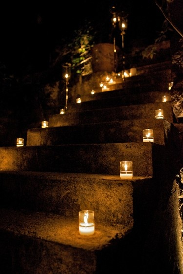 Candles Lighting A Stairway To My Proposal D