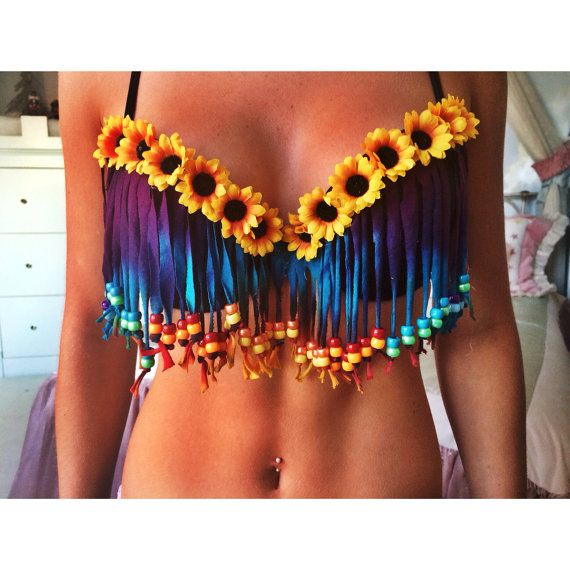 Tie Dye Hippie Bra by EatSleepRaveBras on Etsy, $50.00