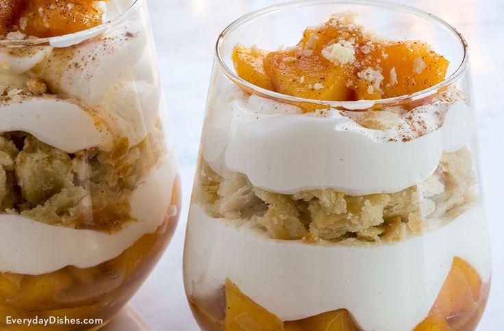 Es gibt nichts Schöneres als ein köstliches karamellisiertes Pfirsichkuchenparfait mit …   – Desserts