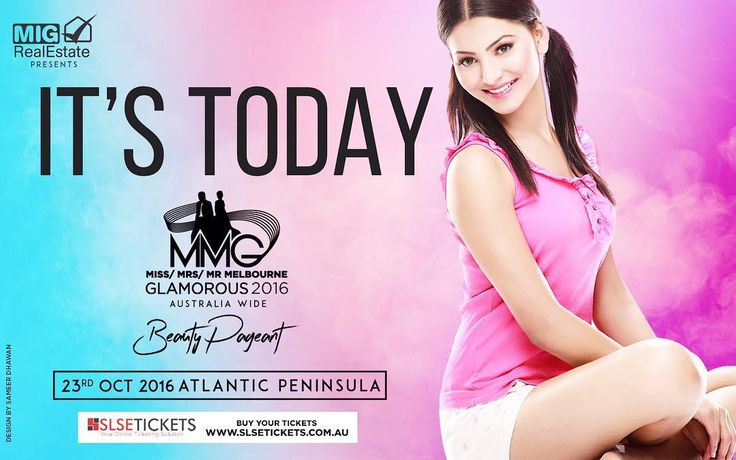 Hello Australia , very excited to see you all today at MMG RETURN2k16 Beauty Pageant on 23rd Oct #MelbournzRoyalGalaDinnerNight