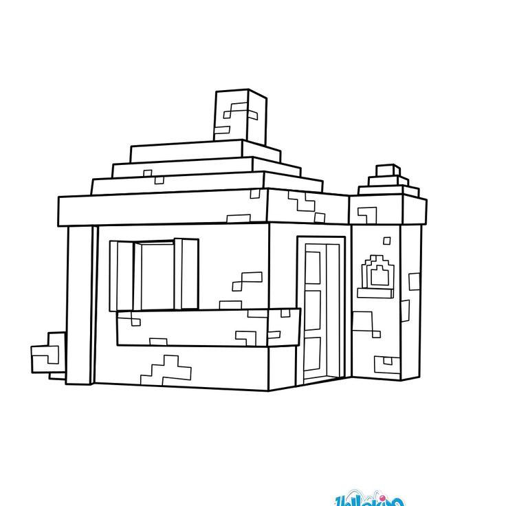 Voici un très joli coloriage d'une maison dans Minecraft. Un dessin original sur les jeux vidéo pour détendre les enfants ou les plus grands.