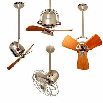 Matthews Fan Company Bianca Direcional Ceiling Fan   Wood Blades