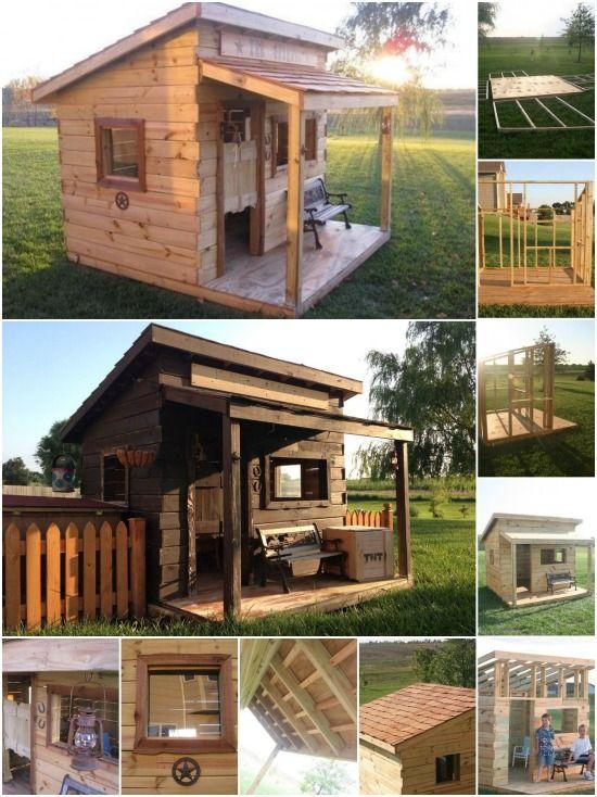Genius Project Travail du bois: Comment construire Fort d'un Western Saloon Kid {Plans gratuits}