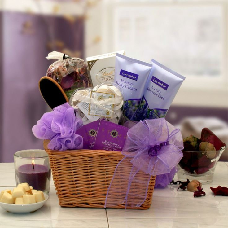 Lavender Relaxation Spa Gift Basket - 8413712