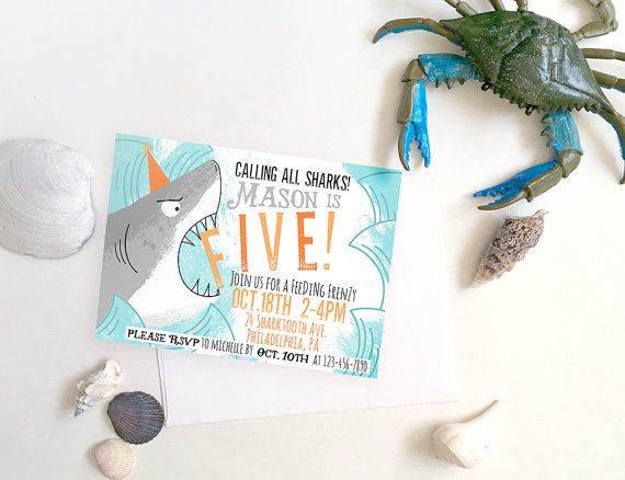 Calling all sharks!! Excite your small guests to join you and your child for a…