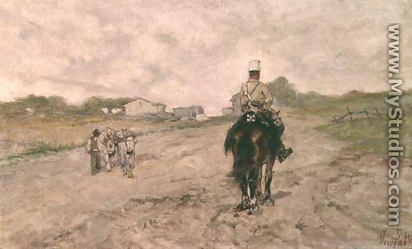 The Light Cavalryman - Giovanni Fattori