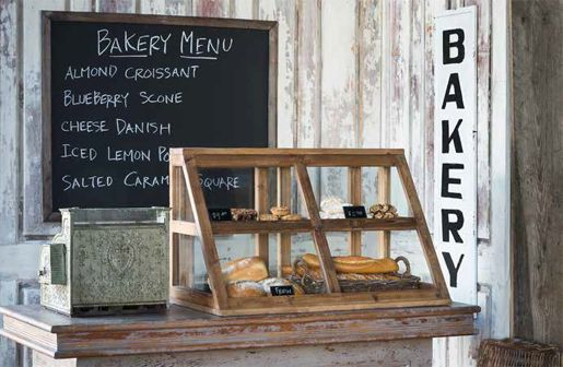 Vintage Signs | Bakery Signs | Bakery Decor...There are NO directions on how to make the bakery cabinet...I just like how it looks!