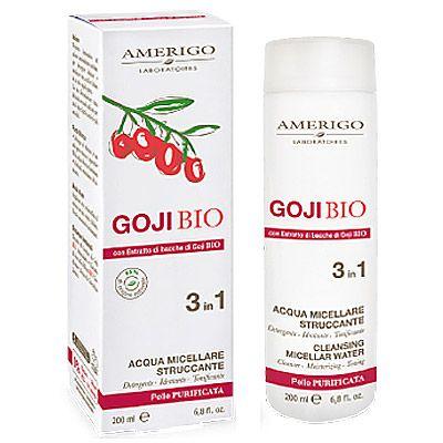 Deterge idrata e tonifica l Acqua Micellare Struccante 3 in1 all'estratto di Goji di Amerigo - in vendita su adorabilenatura.