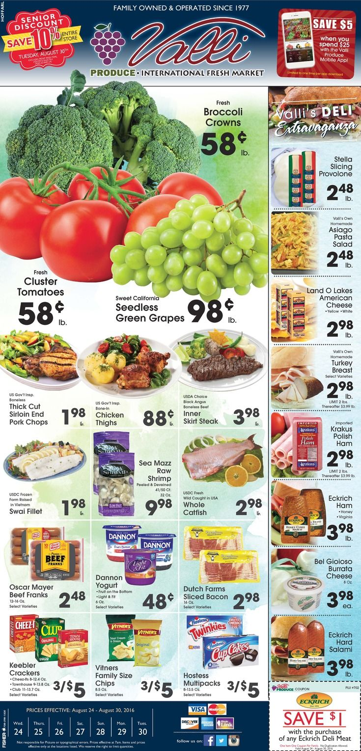 Valli Produce Weekly Ad August 24 - 30, 2016…
