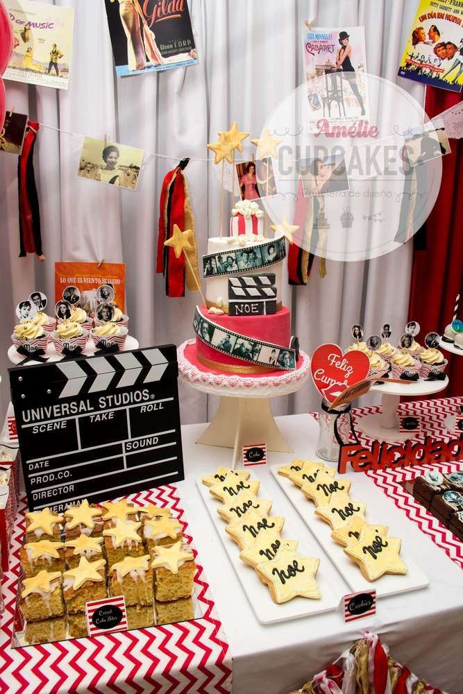 Fantastic Hollywood movie birthday party! See more party ideas at http://CatchMyParty.com!