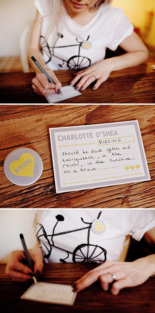words of wisdom: Words Of Wisdom, Guestbook Ideas, Jars Of Heart, Place Cards, Adorable Ideas, Heart Wedding, Receptions Ideas, Names Places Cards, Amazing Ideas