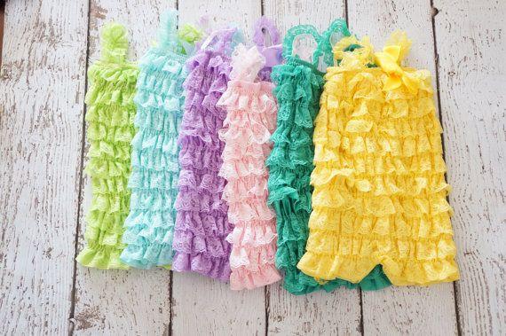 Baby Romper  Petti Romper  Lace Romper  Girls by PoshPeanutKids, $16.00