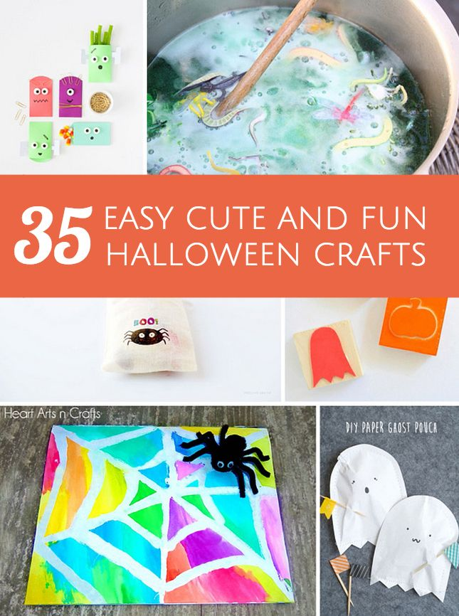 Tons Of Great Ideas For Easy Cute And FUN Halloween Crafts And Projects For K