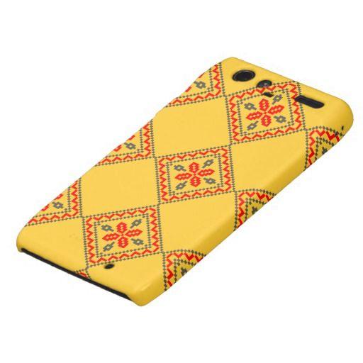 Romanian traditional pattern droid RAZR case