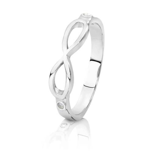 Infinity - 9ct White Gold Ring