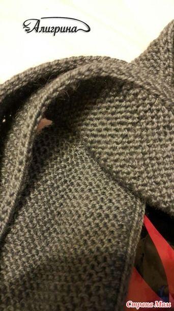 Как сделать кромку шарфа двусторонней, плотной и красивой: Дневник группы «ВЯЖЕМ ПО ОПИСАНИЮ»: Группы - женская социальная сеть myJulia.ru
