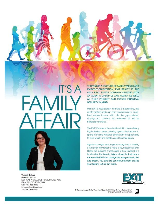 Pin By Tamara Culham On Exit Realty Welcome Home Brokerage Exit Realty Family Values Real Estate Companies