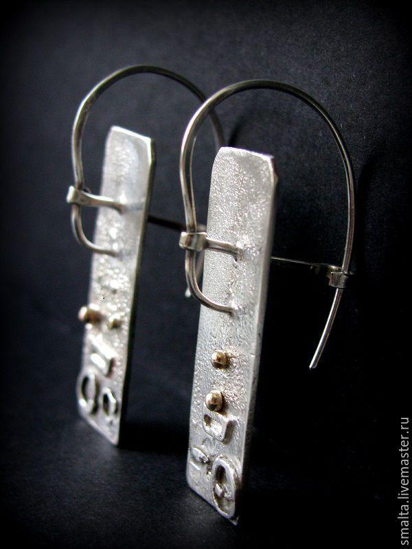 """Купить Серебряные серьги """"Под знаком Стрельца"""" - серебряный, серьги, серьги серебряные, серьги серебро"""