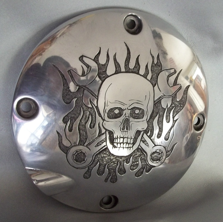 hand-engraved motorcycle parts - your design or mine - I can engrave your tattoo - semperparatus13@aol.com