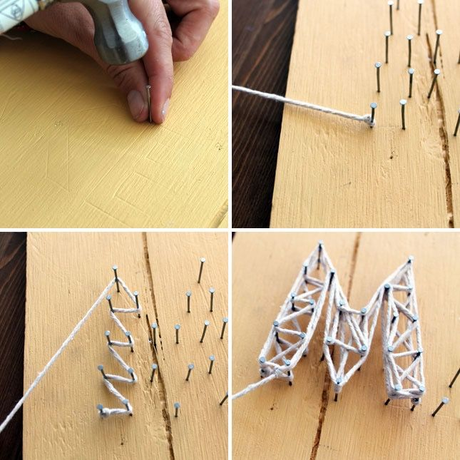nail and string art instructions