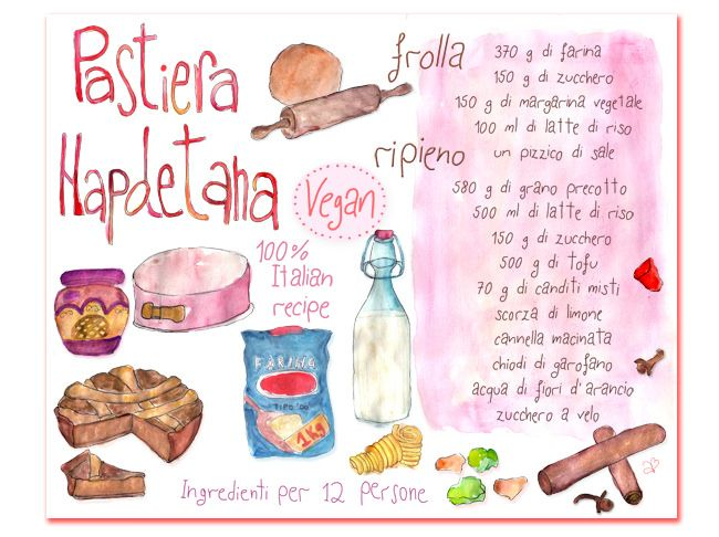 illustrated-recipe,-italian-pastiera-with-ingradients,-wat… | Flickr - Photo Sharing!