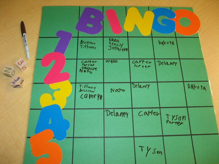 Bingo Behavior - when kids are caught being good they write their name somewhere on the BINGO chart.  At the end of the day roll the dice and the names on that square get a prize.  Bonus die has colors on it for when the class is super good - roll it and everyone on that color gets a prize.  Erase and start again the next day.