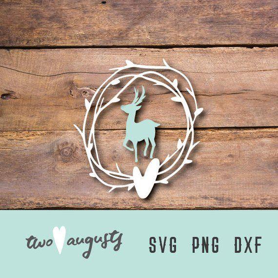 Download Deer Love SVG, DXF, & PNG, woodland, Files, Design, Cricut ...