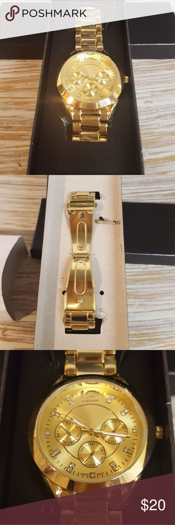 ⭐New Price⭐ Avon Bold Bracelet Watch NIB Avon Bold Goldtone Bracelet Watch. Women's watch. It needs a new battery, which is the reason for the lower price. Avon Accessories Watches