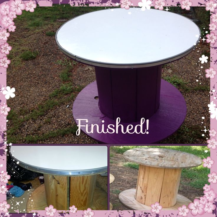 Thnx To The Wonderful Hubby I Made A Table To Go In My Kindergarten  Classroom. Electrical SpoolsSpool ...