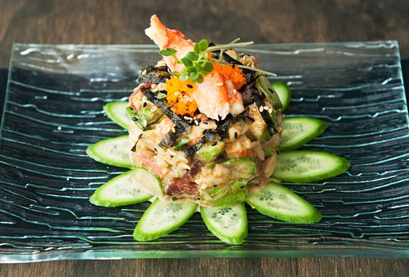 California roll poke with crab avocado cucumbers tuna for Hawaiian fish recipes