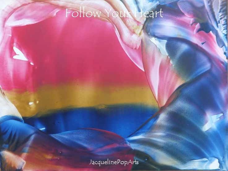 Follow your Heart, encaustic art by JacquelinePopArts  - Art with a Heart - Valentijn - Valentines Day