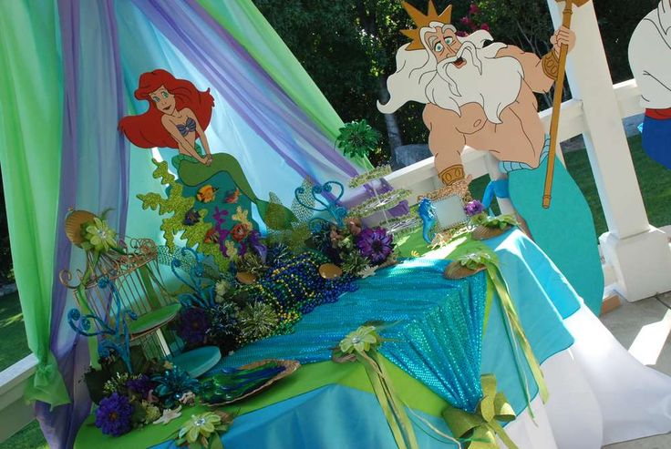 26 best images about angelis 2th birthday on pinterest for Ariel decoration ideas