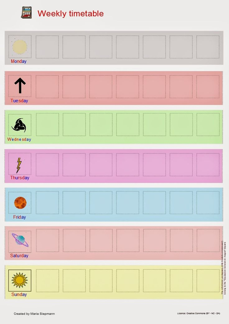 Babel - Free Language/Speech Therapy Resources. (Montessori Inspired): Weekly Activities Timetable