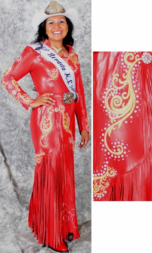 177 Best Rodeo Queen Formal Leather Dress Images On