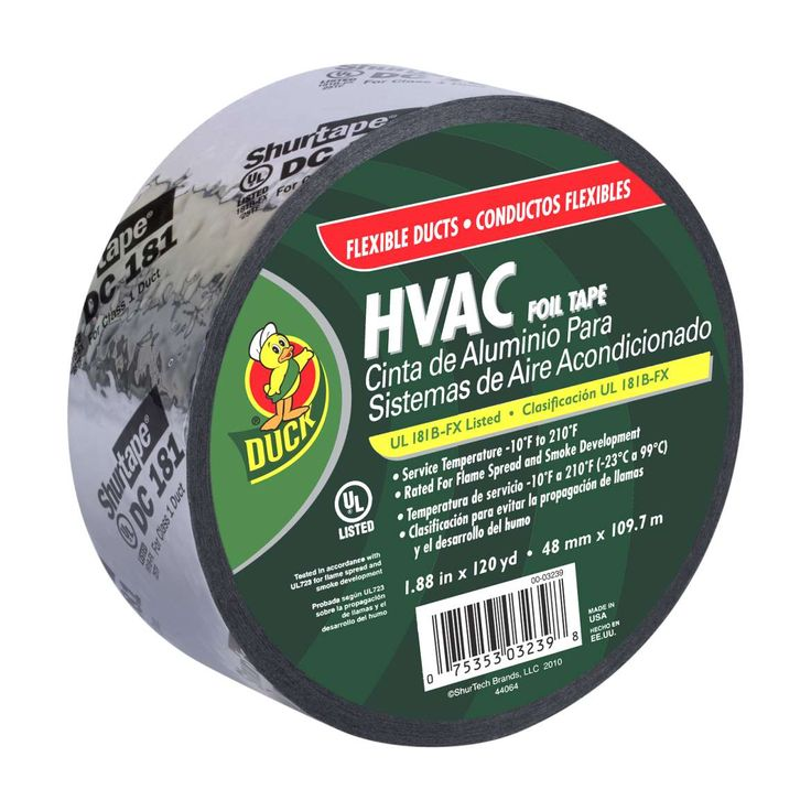 Create A Waterproof Bond With This Silver In X 120 Yd Fibergl Duct Repair Tape It S Designed To Code For Both Hvac Installations And Repairs