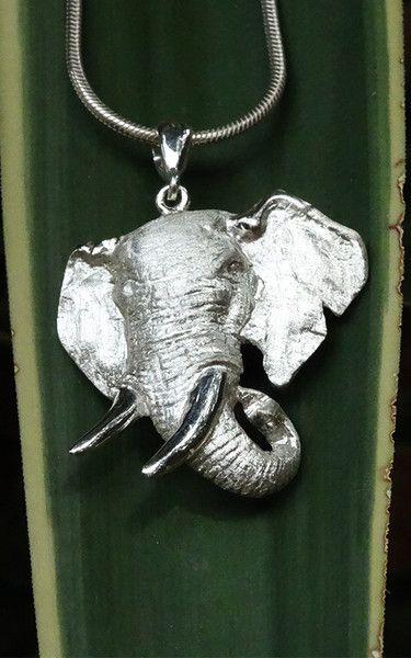 Large Elephant Head Pendant - GoodiesHub.com - 1