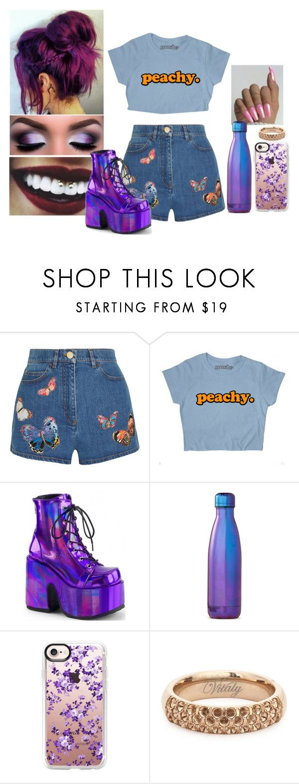 """yo se que te gusta el pop rock latino"" by straightedge316 ❤ liked on Polyvore featuring Valentino, S'well and Casetify"