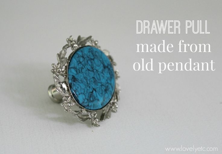 Draewr pulls made from old jewelry 2