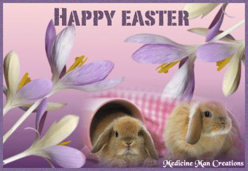happy Easter gif | Happy Easter Rabbits-