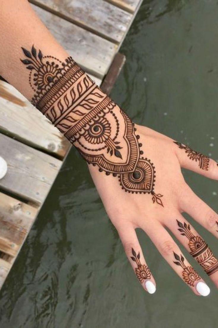 Kleine Henna Tatowierung Tattoos Small Henna Henna Tattoo Henna Tattoo Designs Simple