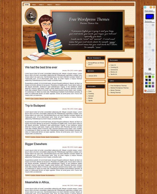 English Teacher - WordPress Free Theme