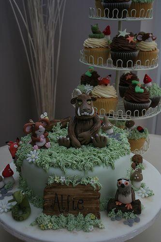 Gruffalo Cake and Cupcakes   Flickr - Photo Sharing!